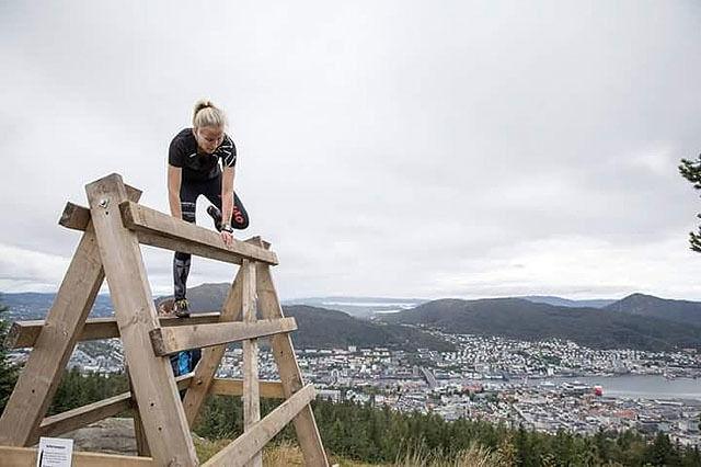 Med flott utsikt over byen Foto: Hans Edward Tvedt