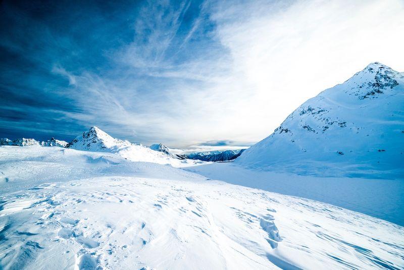 Vinterbilde vidde skiføre