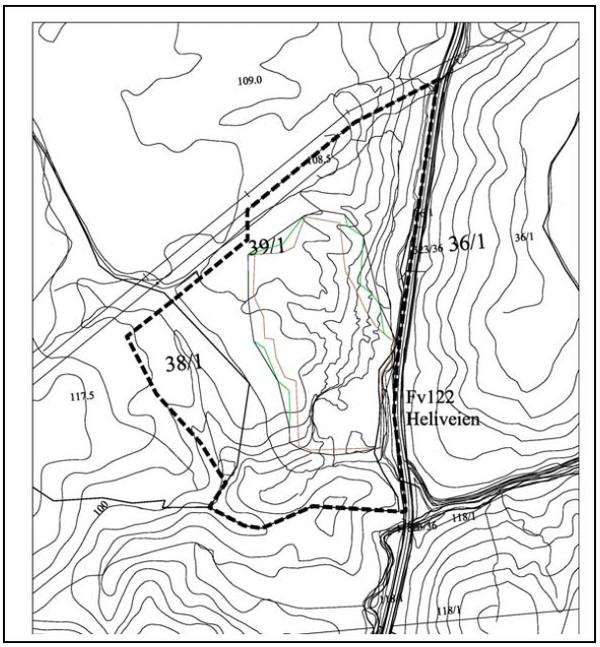 Kart som viser planavgrensning