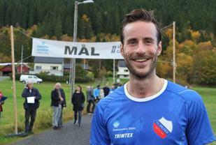 Marcus Megrund, Valder IL med grunn til å smile etter et godt løp. Foto: Martin Hauge-Nilsen