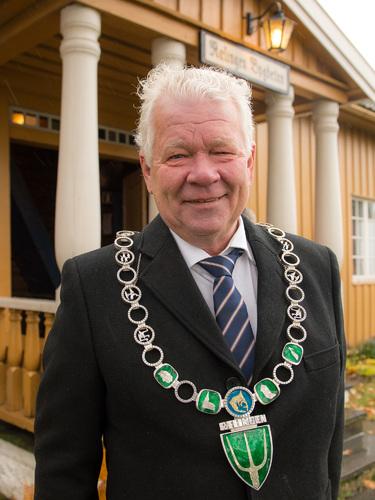 Ordfører Øivind Sand ved bygdetunet