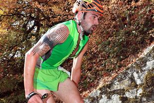 Philip Götsch hadde en fart på 2077 vertikale meter i timen da han vant Kilomètre Vertical de Fully. (Foto: Gerard Berthoud)