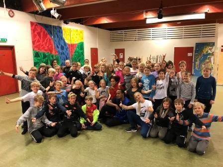 5. og 6. klassingar ved Leikanger barneskule