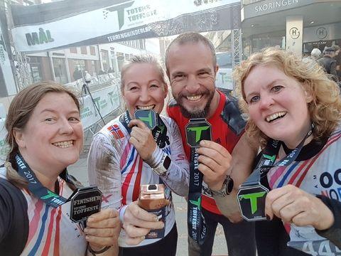 Medaljer etter målgang