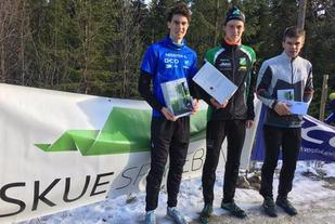 Årets topp 3 i Bringenatten Opp, (fv) Sondre Juven, Kristen Mikkelsplass, Bjørnar Stensrud Tyribakken. Foto: Ove Grøndal