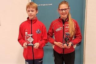 Magnus Nergård Antonsen fra Hamar IL og Hanna Hagevik Bakke fra IL Trysilgutten var årets beste poengplukkere i U-cupen. (Foto: Bård Venholen, HOFIK)