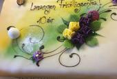 Kake med påskrevet gratulasjon, Frivilligsentralen 10 år
