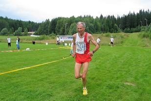 Ole Peter Bergaust i innspurten på halvmaraton på Kongsvinger i 2007.