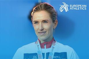 Karoline Bjerkeli Grøvdal er blitt kåra som månedens utøver i Europa. (Foto: Det europeiske friidrettsforbundet)