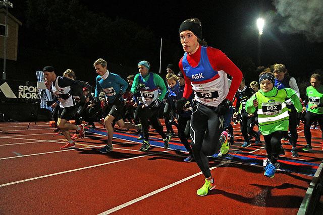 Marius Sørli tar initiativet fra start på 5 km.