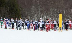 Deltakere klar til start på skiløp