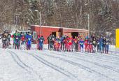 Fellesstart i konkurranseklassen på ski