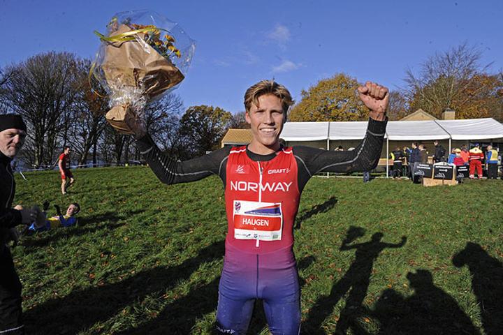 Simen Halle Haugen, som i november ble nordisk mester i terrengløp, fikk også representere Norge under europamesterskapet i terrengløp sist søndag. (Arkivfoto: Arne Dag Myking)
