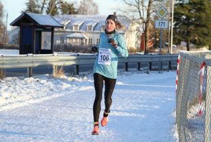 Silje Christiansen var raskeste kvinne i motbakkeløpet. Bildet er fra forrige  karuselløp på Sørum. (Foto: Olav Engen)