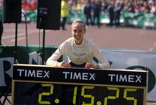 Paula Radcliffe satte gjeldende verdensrekord på maraton 12 år etter at hun slutta å forbedre sitt maksimale oksygenopptak. (Foto: London Marathon / Jiro Mochizuki)