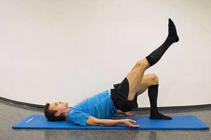 Hamstrings (baksiden av låret) er for mange løpere en skadeutsatt muskel og bør derfor trenes. (Alle foto: Bjørn Johannessen)