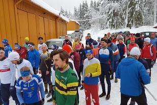 Klare til start på årets Marsipanløp. (Foto: Stein Arne Negård)