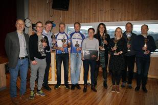 Utmerkelse for 5 maraton på Bergensk jord