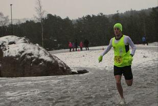 Torstein Tengsareid inn til suveren seier under tunge løpsforhold.    Foto: Merete Horpestad.