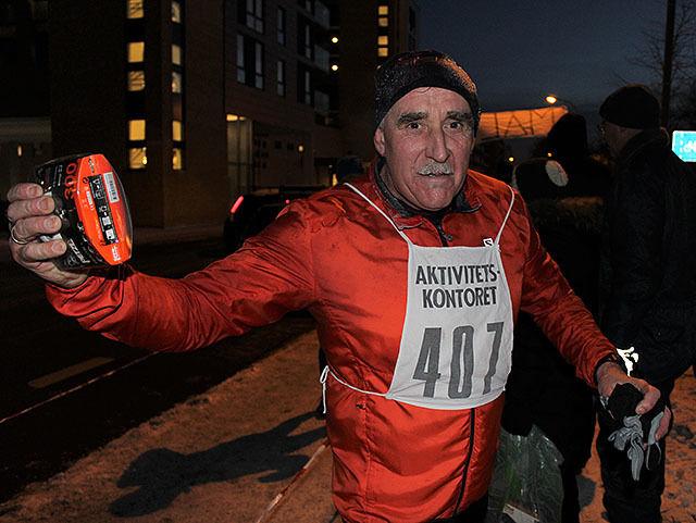 Svein Egon Lundeberg ble årets vinner i den omvendte jaktstarten i Nyttårsløpet i Trondheim. (Alle foto: Kristine Eid)