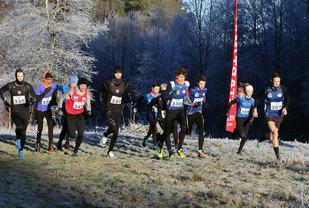 Flotte forhold under det 1. Wintercross 6. januar i Fana