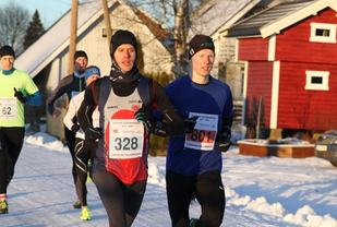 Stenberg og Waaler i tet helt fra start. (Foto: Olav Engen)