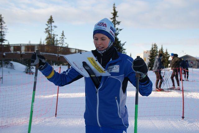 Andrine Benjaminsen, Lillomarka OL før start. (Foto: Stein Arne Negård)