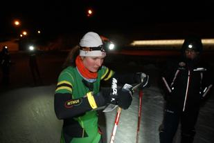 Vinner Anna Ulvensøen, NTNUI på start. (Foto: Stein Arne Negård)