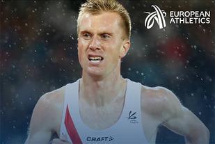 Seieren på ny europeisk rekord - 2.05.48 - i Fukuoka Marathon førte Sondre Nordstad Moen til topps i Det europeiske friidrettsforbundets kåring av månedens friidrettsutøver i desember. (Foto: Det europeiske friidrettsforbundet)