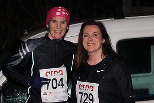 Hanne Liland og Marianne Nesbø Ådland hadde en jevn duell om seieren for 14 dager siden