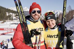 Tord Asle Gjerdalen og Britta Johannsson Norgren vant Kaiser Maximilian Lauf da Ski Classics var tilbake etter juleoppholdet. Foto: Sandra Åhs-Sivertsen (Wsportsmedia)