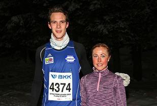 Espen Roll Karlsen og Eli Anne Dvergsdal var klart raskest opp til Fløyen.