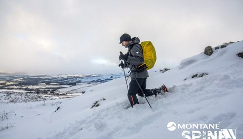 Stormen har gitt seg, men snøen er det mye av i de britiske fjellene. Da er det tungt med tusener og atter tusener med høydemeter å forsere. (Arrangørfoto)