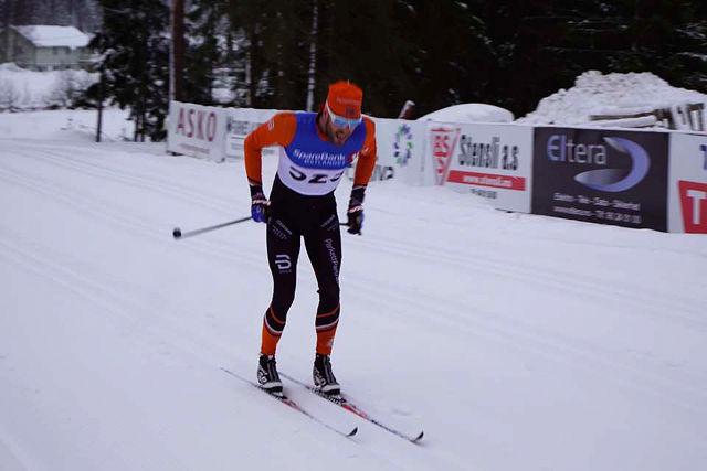 Simen Engebretsen Nordli mot mål drøye to minutter foran neste løper. (Foto: Frode Haugli)
