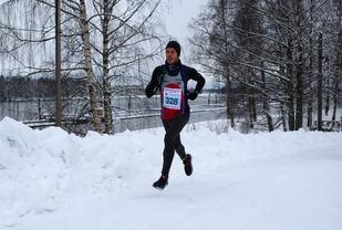 Frode Stenberg alene i tet etter ca 6 km. (Foto: Bjørn Hytjanstorp)