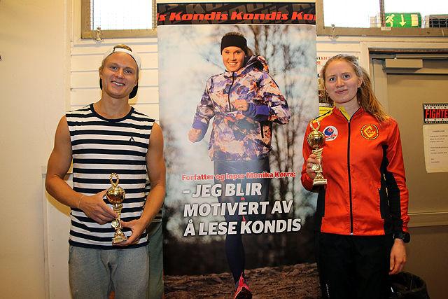 Sondre Øvre-Helland og Lina Rivedal dagens halvmaraton-vinnere