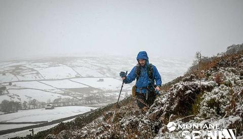 Thomas Øderud på  en brutal tur i britiske fjell. (Arrangørfoto)