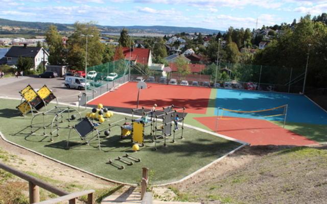 Rud skole - uteområde parkour