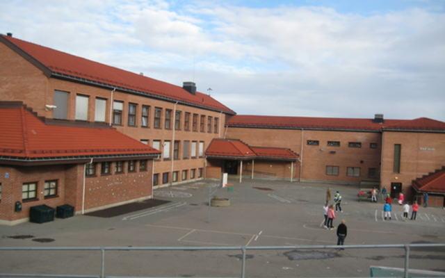Rud skole - skolegård