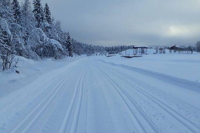 Drømmeforhold både med og uten festevoks i Trysil-Knut Renn-traséen på søndag. (Foto: Erland Olsen)