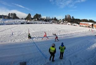 Målfoto fra Idrettsparken på Kjellmyra lørdag. (Skjermdump fra arrangørvideo)