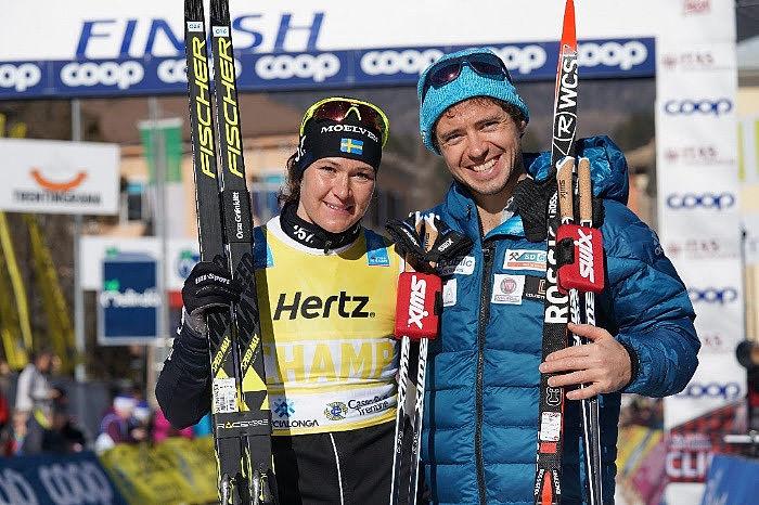 Britta Johansson Norgren, Lager 157 Ski Team og  Ilya Chernousov, Bauer Ski Team var best i årets Marcialonga.