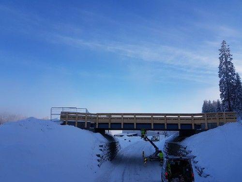 Ny skibru i Marikollen