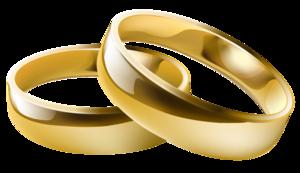 Bilde av gifteringer i gull