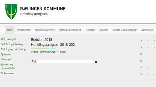 Handlingsprogram på nett