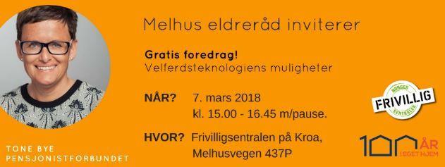 Invitasjon til gratis foredrag om velferdsteknologiens muligheter