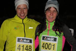 Harald Simmenes og Grethe Jørgensen kunne bokføre en ny seier i Åsane Løpskarusell