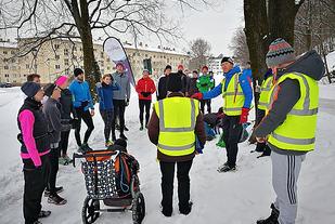 Endelig var Tøyen Parkrun tilbake - nesten to måneder etter siste løp som gikk lille juleaften. Foto: Heming Leira