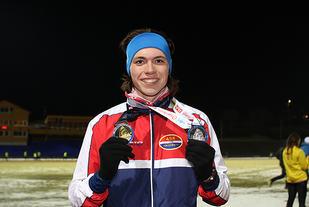 Marius Sørli har plukket mange gullmedaljer for sine seire i karusellen, etter det 6. løpet fikk han også deltagermedaljen i sølv