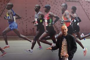 Sjøl om Jann Post ikkje legg lista fullt så høgt som dei beste kenyanarane, har han likevel gitt seg eit konkret mål å sikte imot. (Foto: Anders Øksenholt)